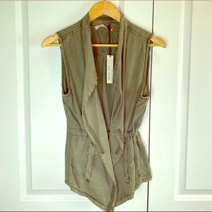 *NWT* Max Jeans Vetiver Olive Green Vest